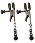 Spartacus Black Beaded Nipple Clamps