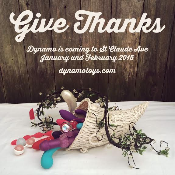 Sex Toy Cornucopia -- Give Thanks