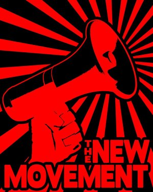 The New Movement megaphone logo